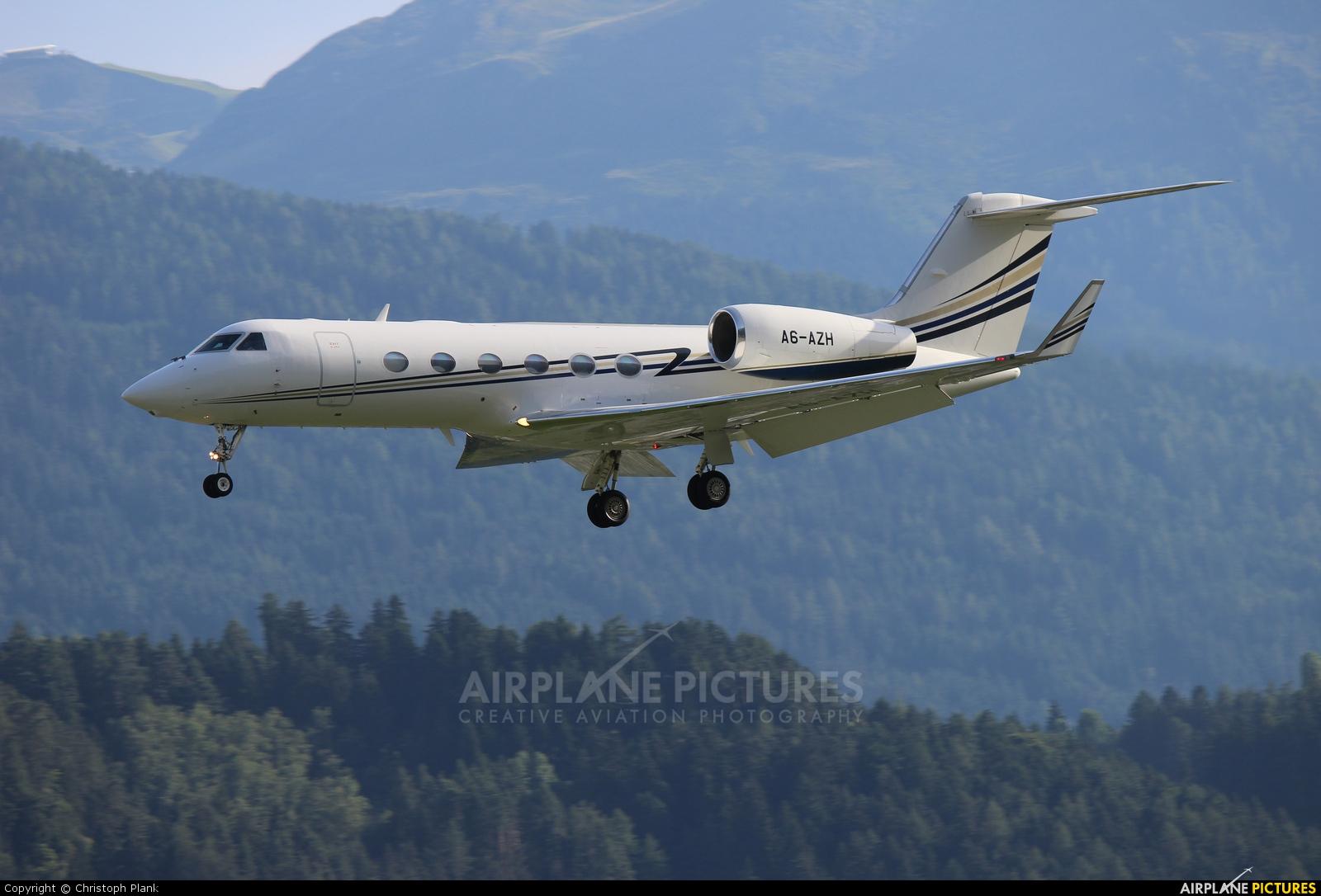 Private A6-AZH aircraft at Innsbruck