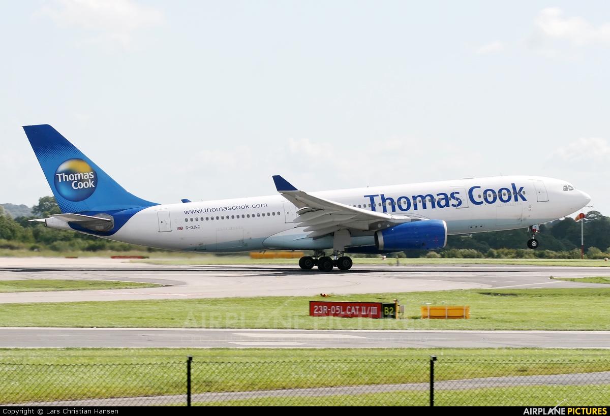 Thomas Cook G-OJMC aircraft at Manchester