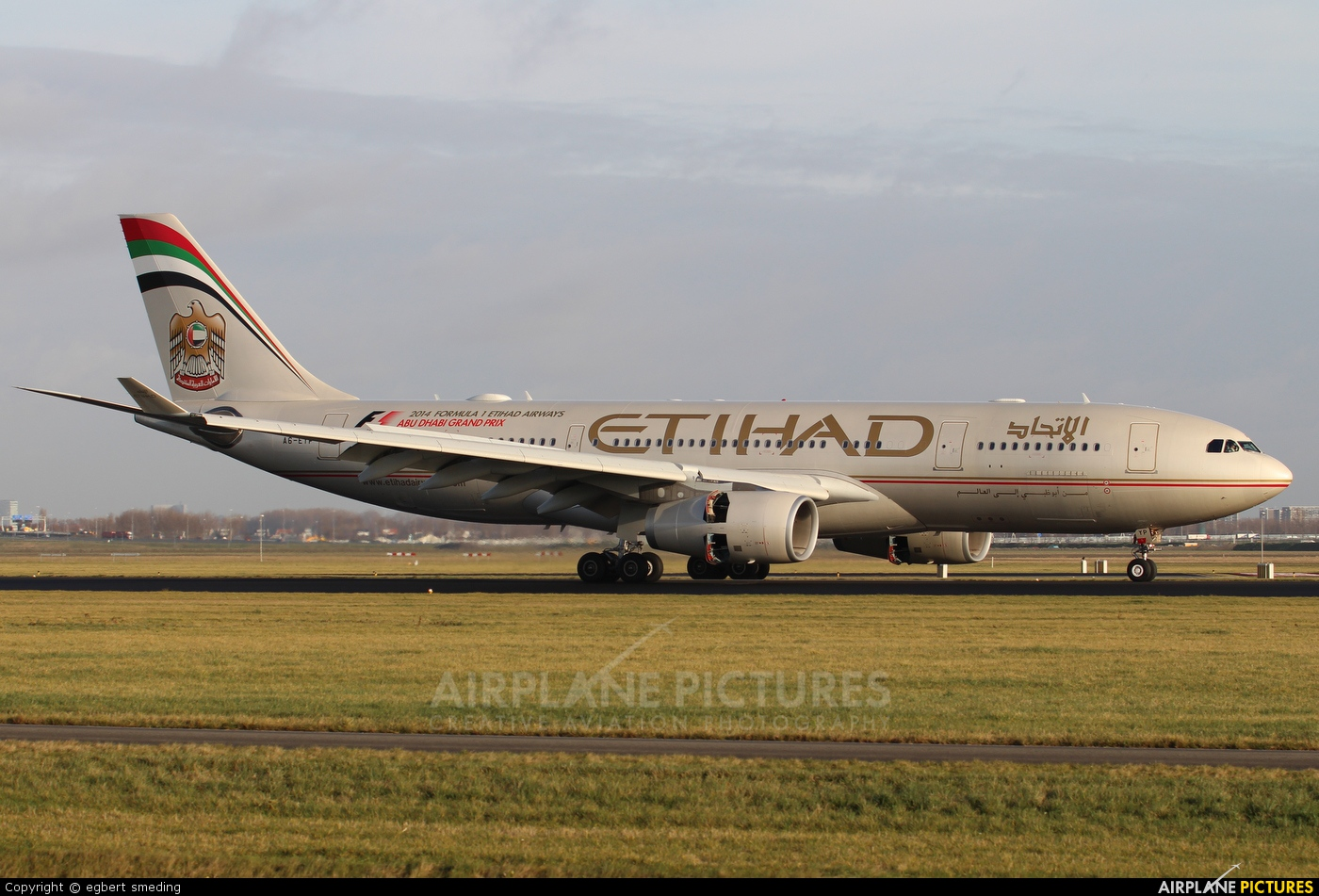 Etihad Airways A6-EYP aircraft at Amsterdam - Schiphol