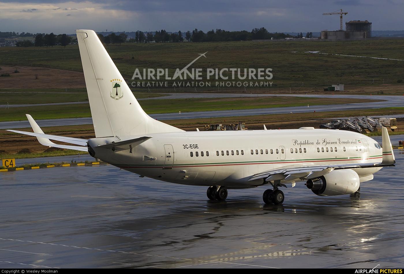 Equatorial Guinea - Government 3C-EGE aircraft at Lanseria