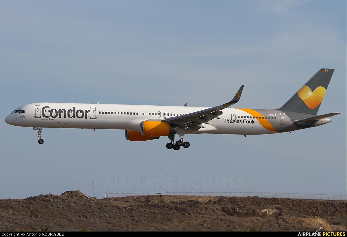 Condor D-ABOJ aircraft at Las Palmas de Gran Canaria