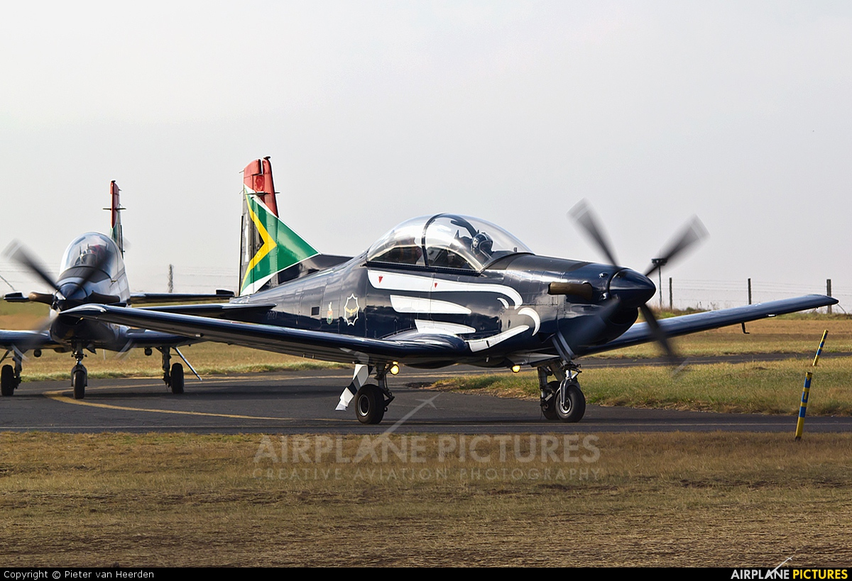 South Africa - Air Force: Silver Falcons 2018 aircraft at Johannesburg - Rand