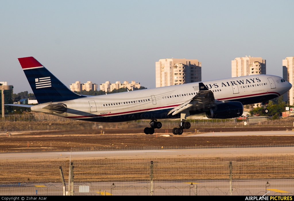 US Airways N285AY aircraft at Tel Aviv - Ben Gurion