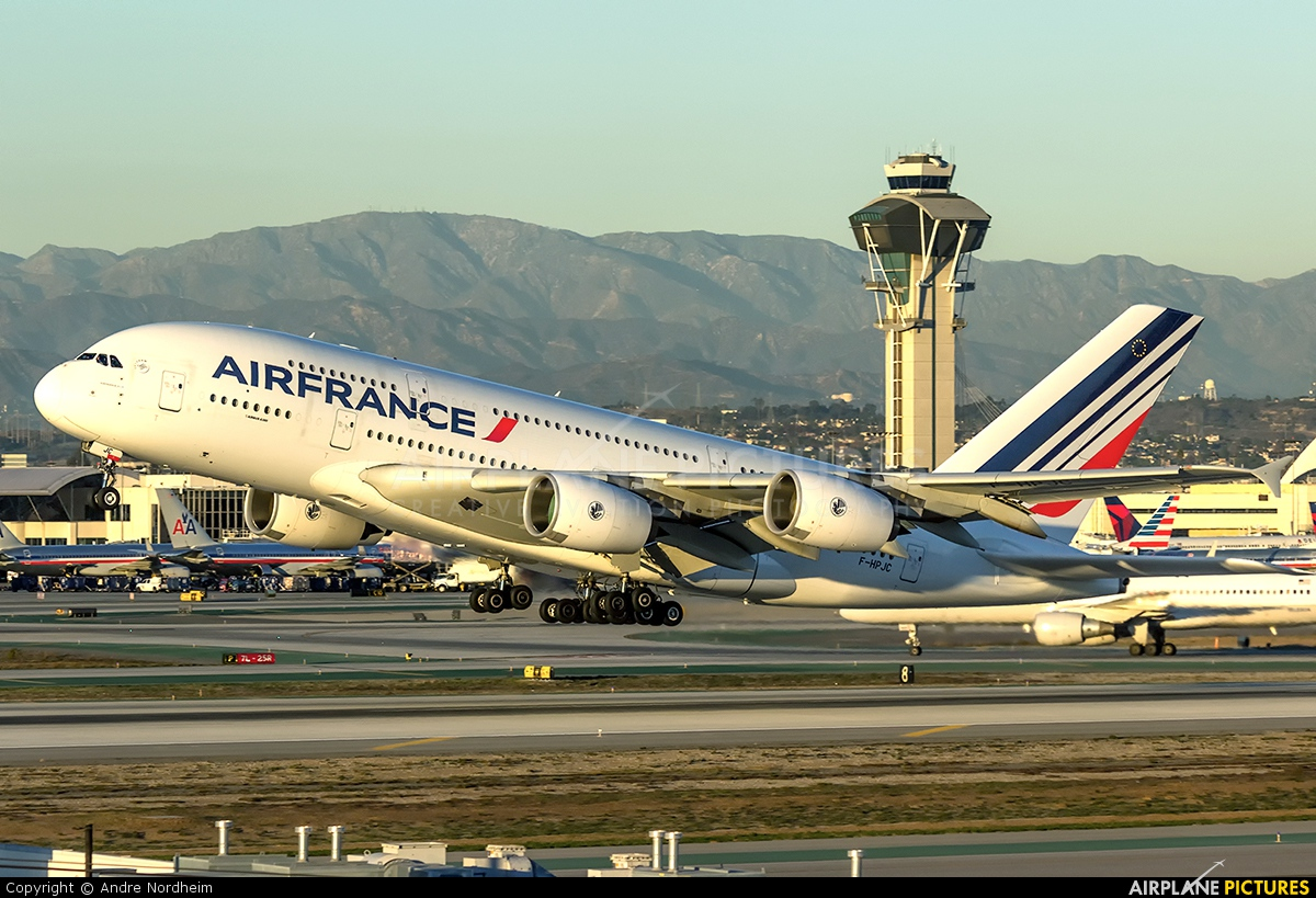 F hpjc air france airbus a380 at los angeles intl for A380 air france interieur