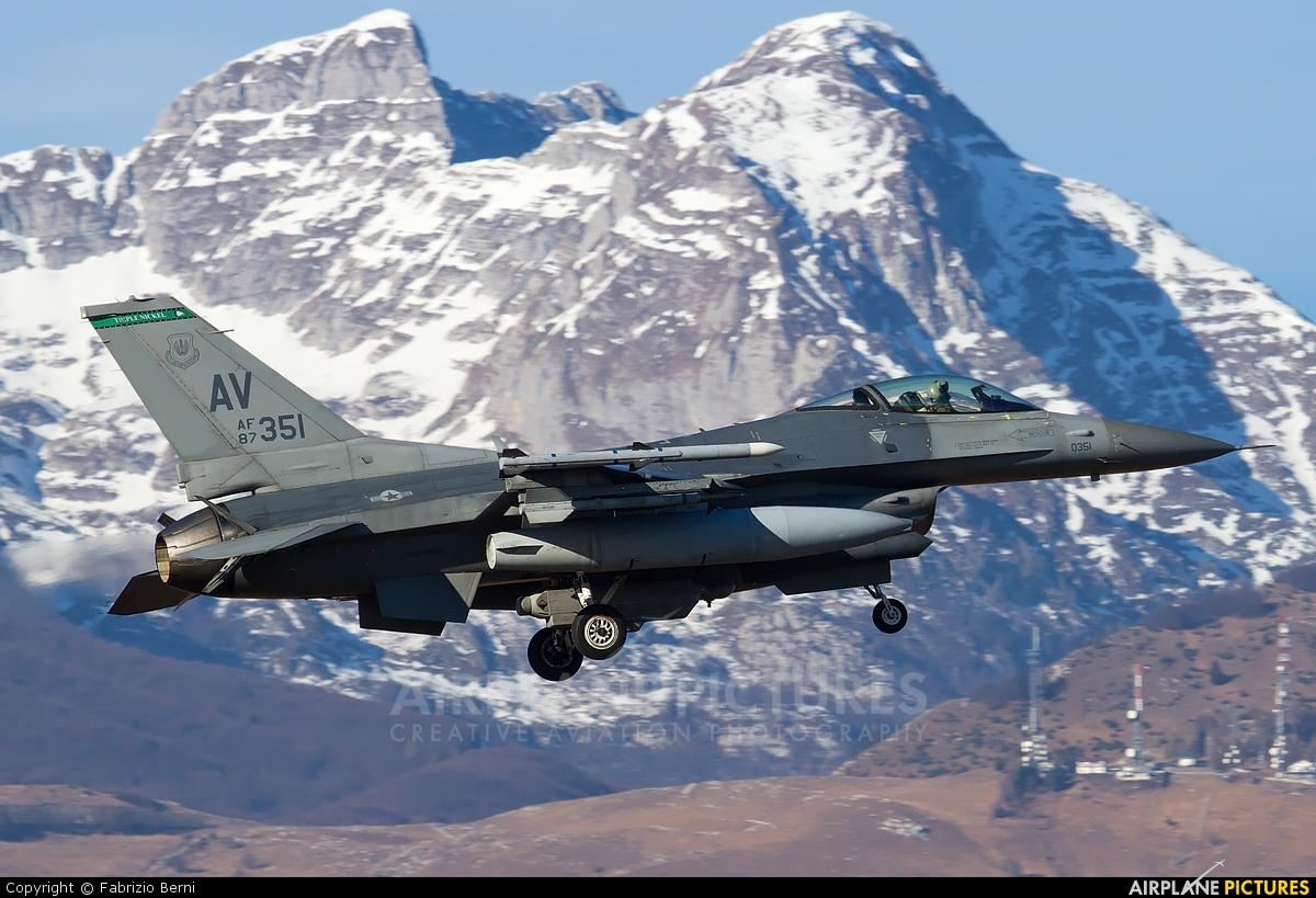 USA - Air Force 87-0351 aircraft at Aviano