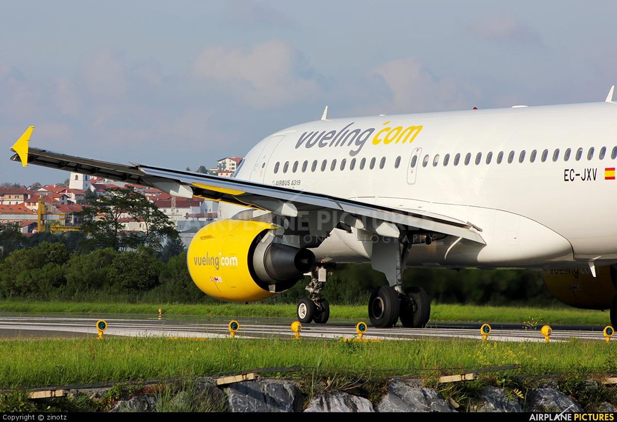 Vueling Airlines EC-JXV aircraft at San Sebastian