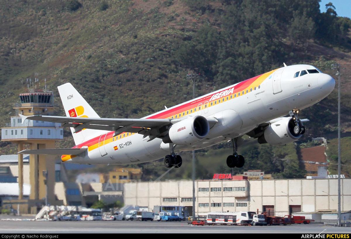 Iberia EC-KOH aircraft at Tenerife Norte - Los Rodeos