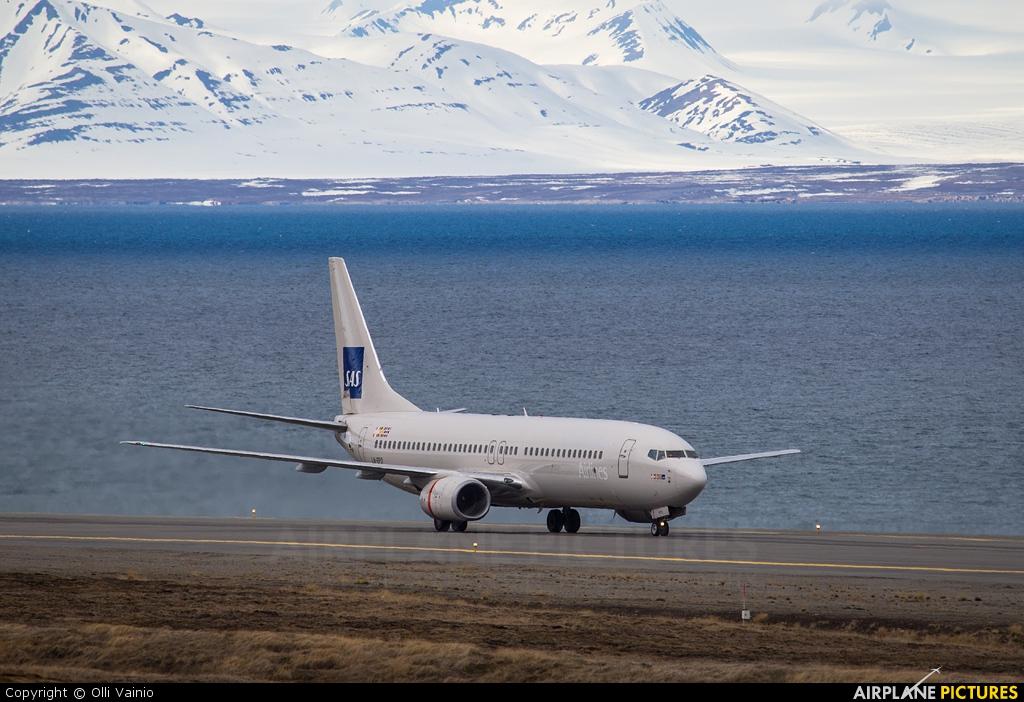 SAS - Scandinavian Airlines LN-RPO aircraft at Svalbard - Longyearbyen