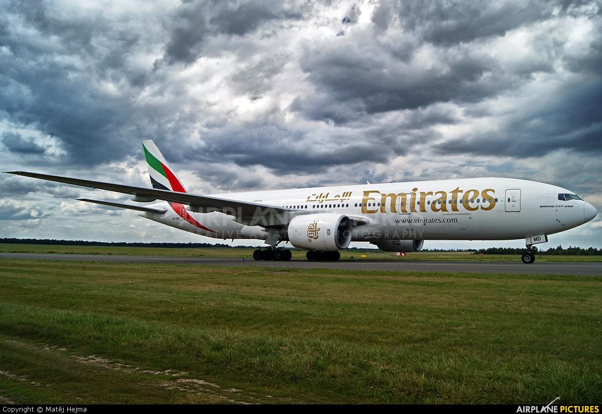 Emirates Airlines A6-EMD aircraft at Prague - Václav Havel