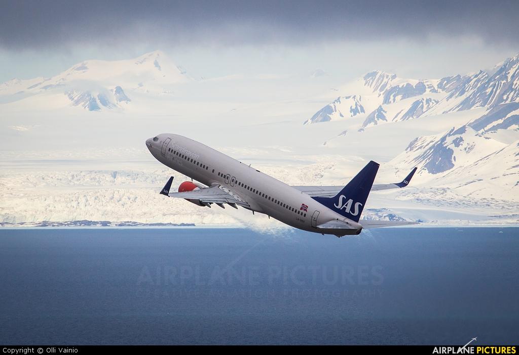 SAS - Scandinavian Airlines LN-RRF aircraft at Svalbard - Longyearbyen