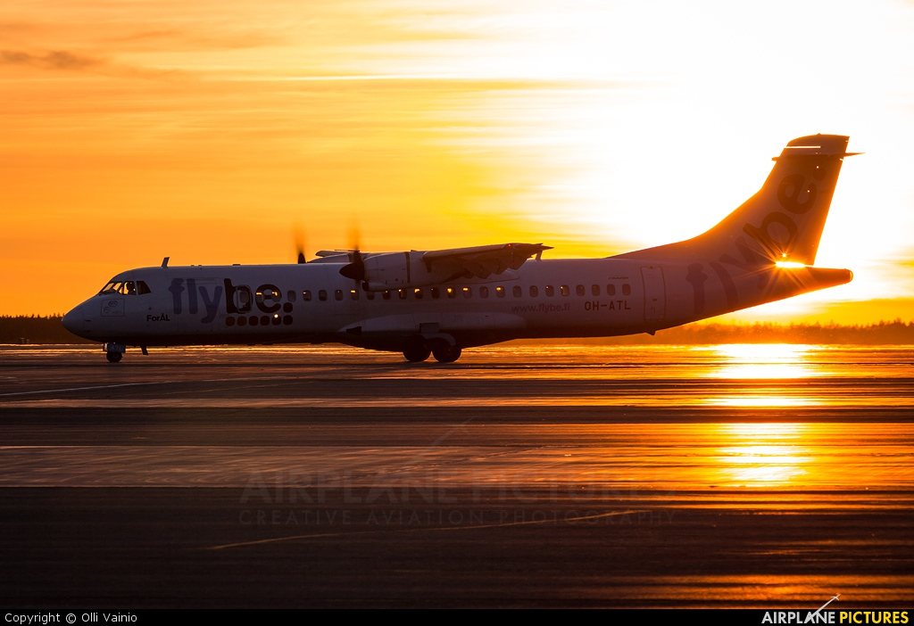 FlyBe Nordic OH-ATL aircraft at Oulu
