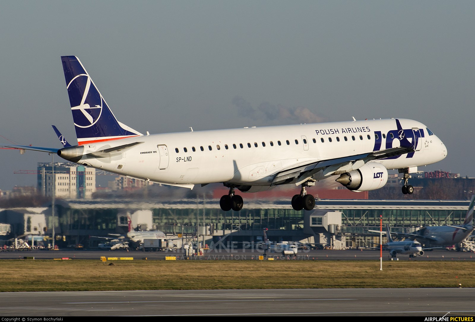 LOT - Polish Airlines SP-LND aircraft at Warsaw - Frederic Chopin