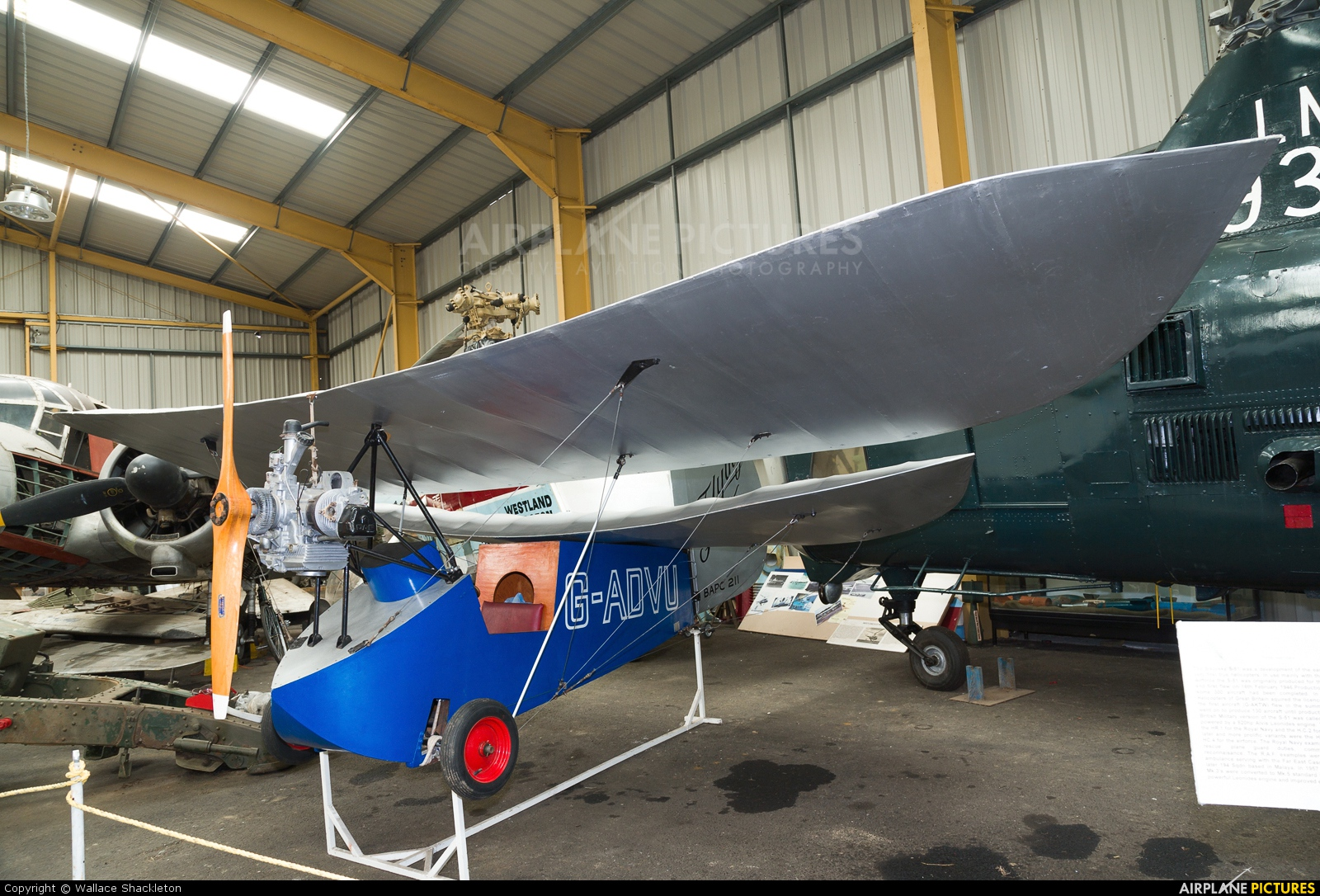 Private G-ADVU aircraft at Sunderland