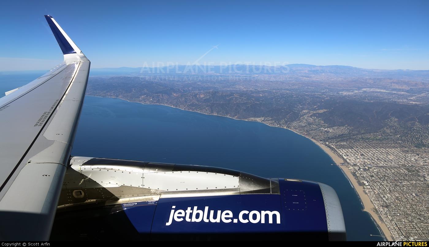 JetBlue Airways N821JB aircraft at In Flight - California