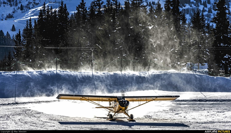 Aude Aeroservices Executive F-GUSK aircraft at Méribel