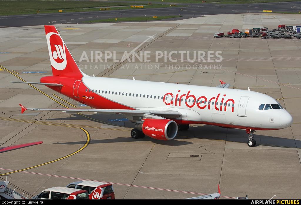Air Berlin D-ABFF aircraft at Düsseldorf