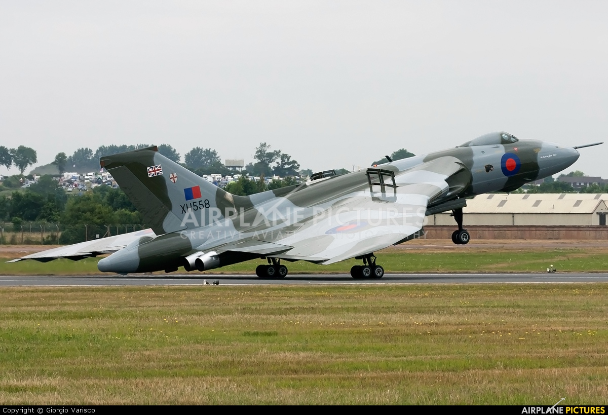 Vulcan to the Sky Trust G-VLCN aircraft at Fairford