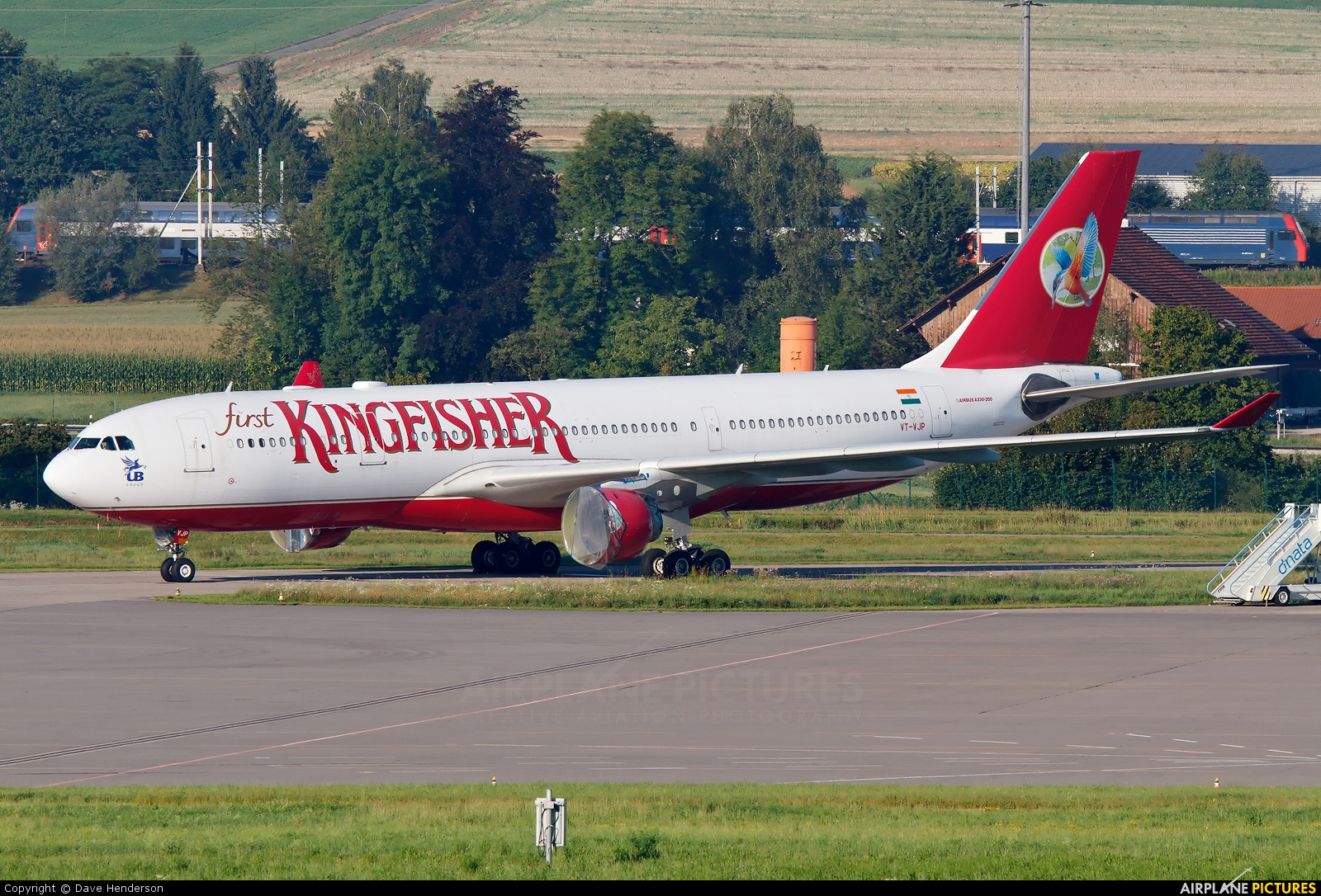 Kingfisher Airlines VT-VJP aircraft at Zurich