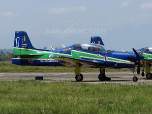 """1327 - Brazil - Air Force """"Esquadrilha da Fumaça"""" Embraer EMB-312 Tucano T-27"""