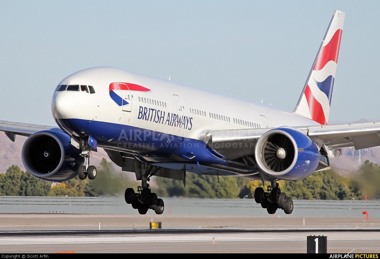 British Airways G-VIIO aircraft at Las Vegas - McCarran Intl