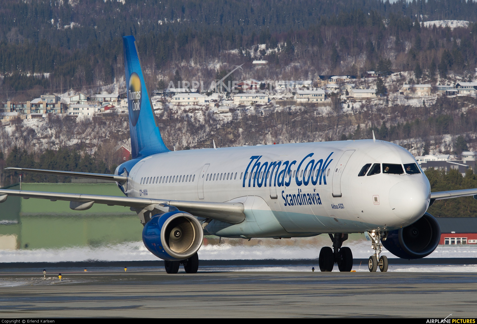 Thomas Cook Scandinavia OY-VKA aircraft at Trondheim - Vaernes