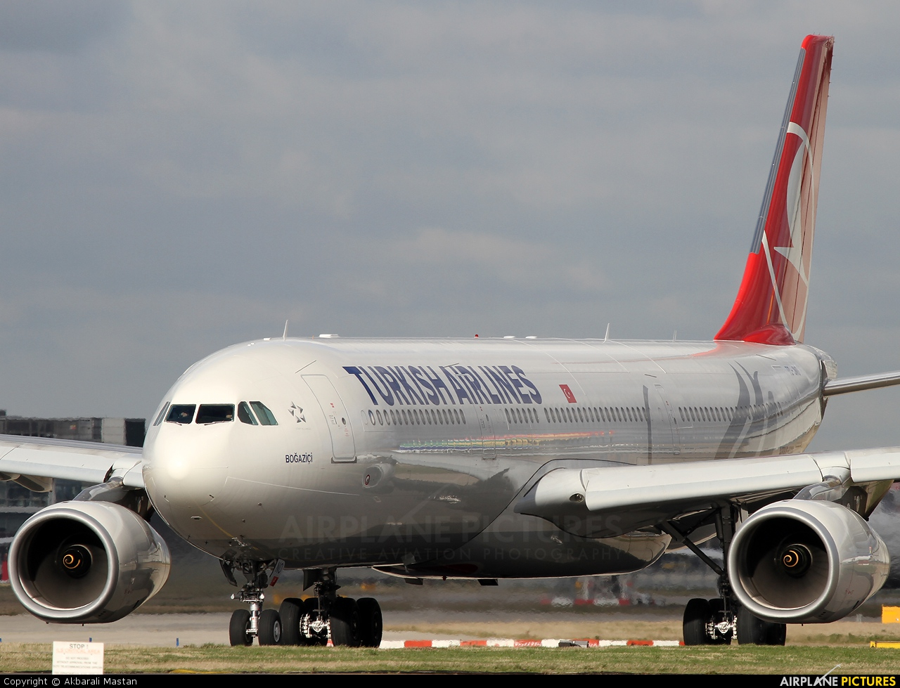Turkish Airlines TC-JNO aircraft at London - Heathrow
