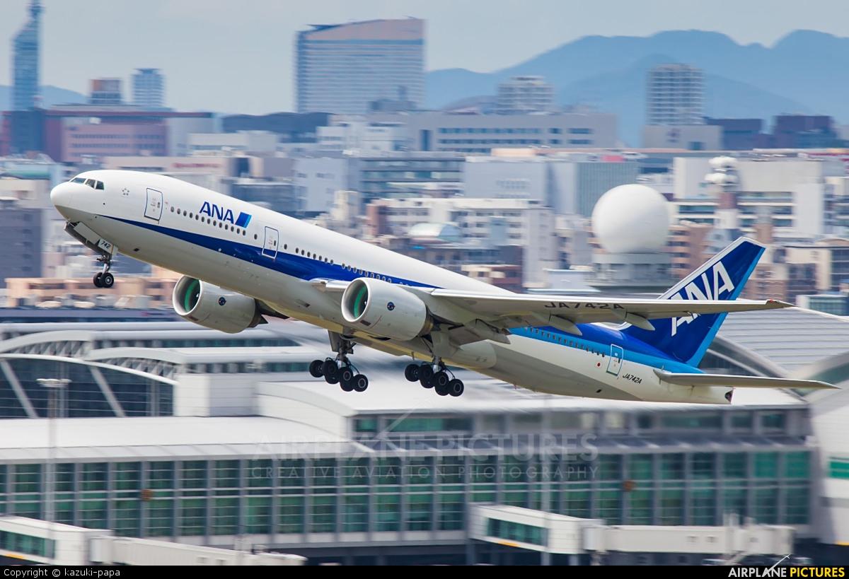 ANA - All Nippon Airways JA742A aircraft at Fukuoka