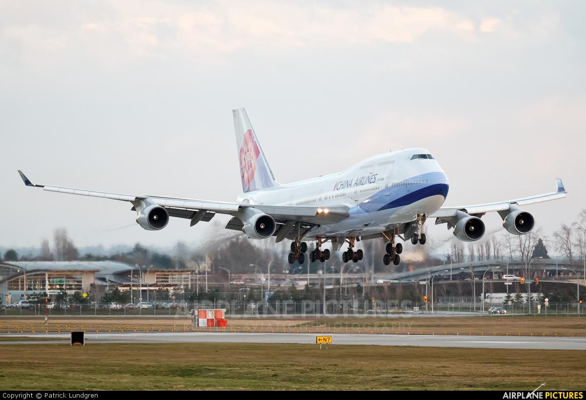 China Airlines B-18202 aircraft at Vancouver Intl, BC