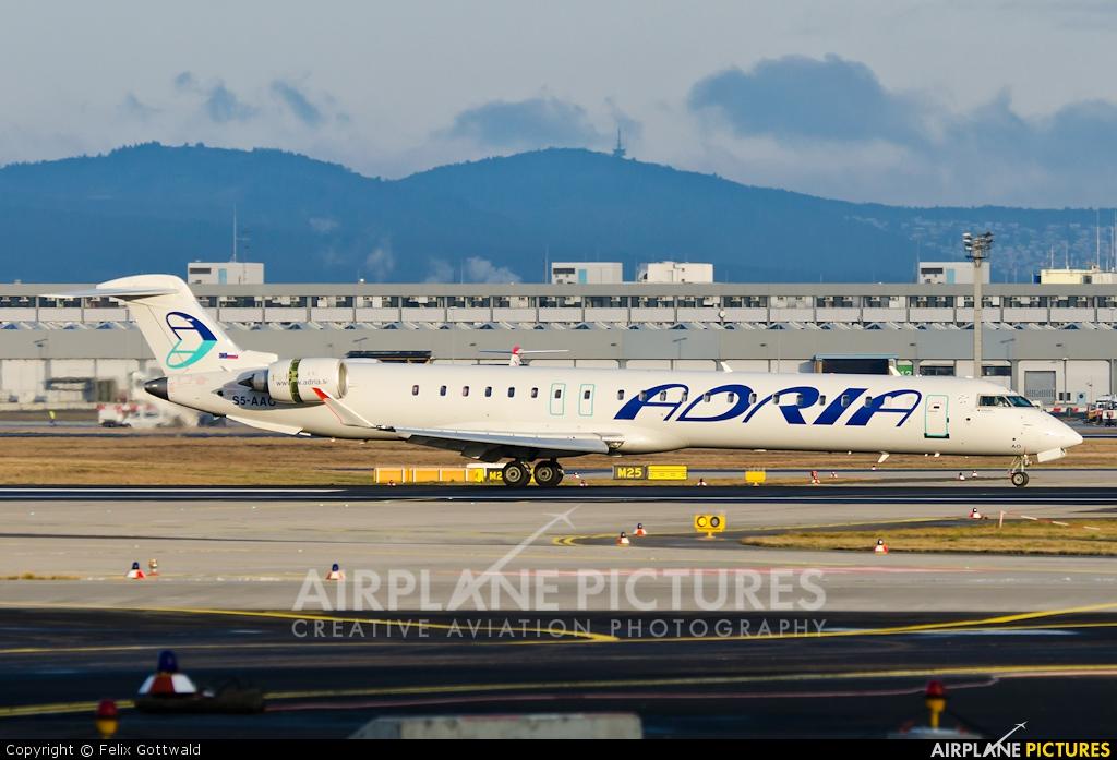 Adria Airways S5-AAO aircraft at Frankfurt
