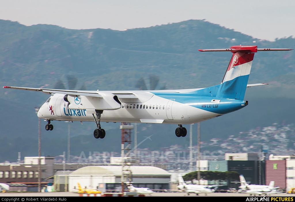 Luxair LX-LGF aircraft at Barcelona - El Prat