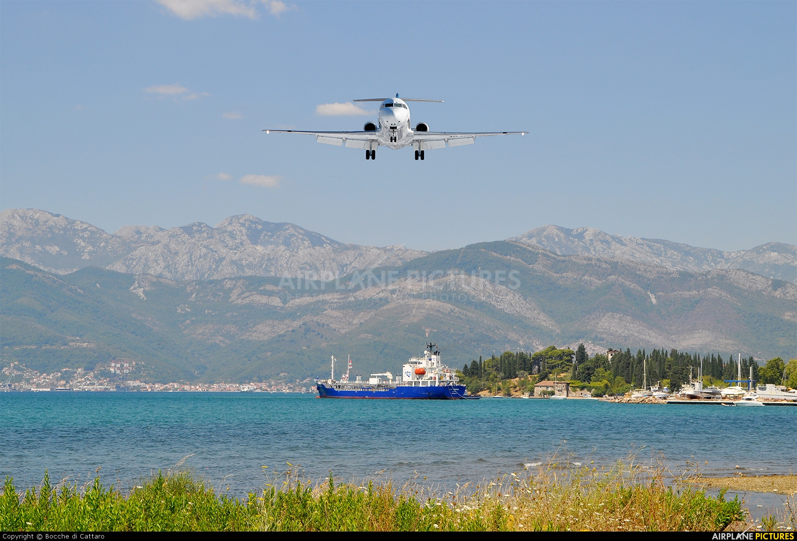 Montenegro Airlines 4O-AOT aircraft at Tivat