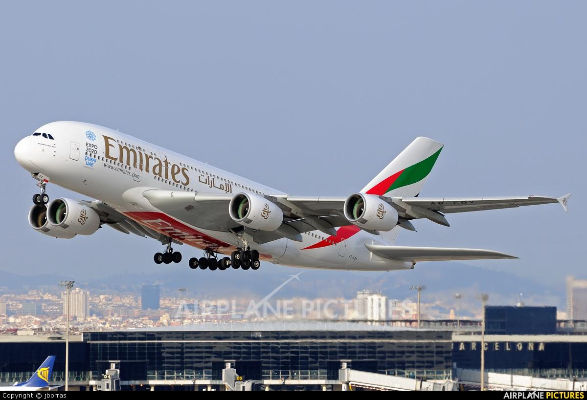Emirates Airlines A6-EDX aircraft at Barcelona - El Prat