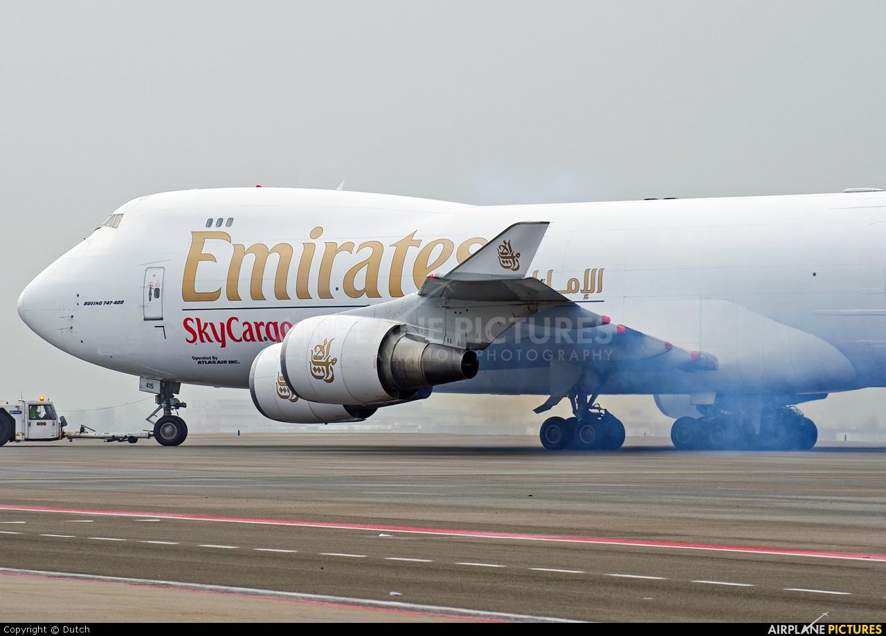Emirates Sky Cargo N415MC aircraft at Amsterdam - Schiphol