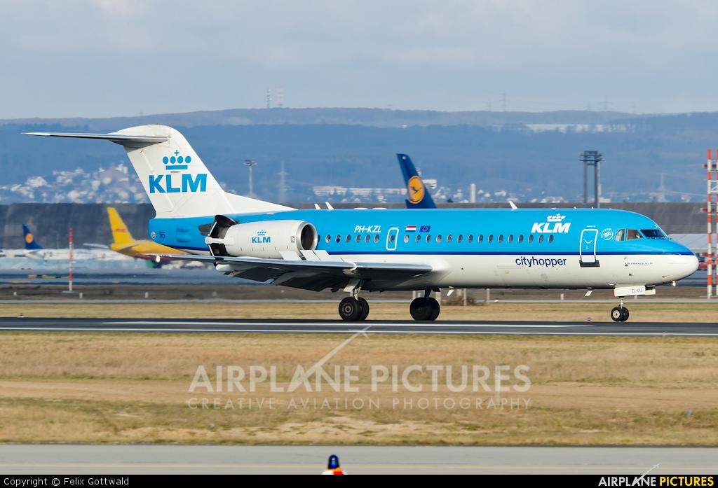 KLM Cityhopper PH-KZL aircraft at Frankfurt
