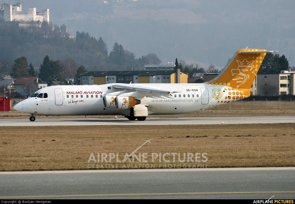 Malmo Aviation SE-DSR aircraft at Salzburg