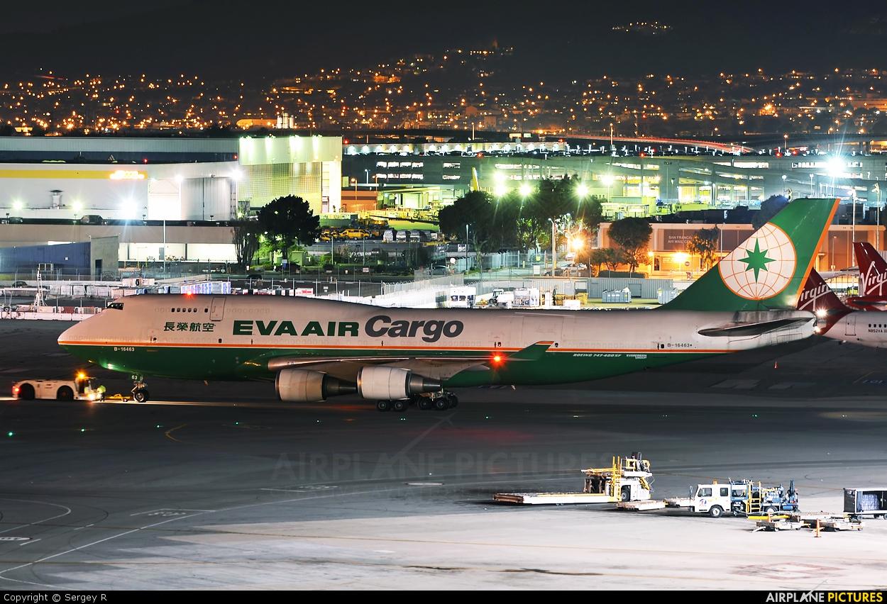 b 16463 eva air boeing 747 400 at san francisco intl. Black Bedroom Furniture Sets. Home Design Ideas