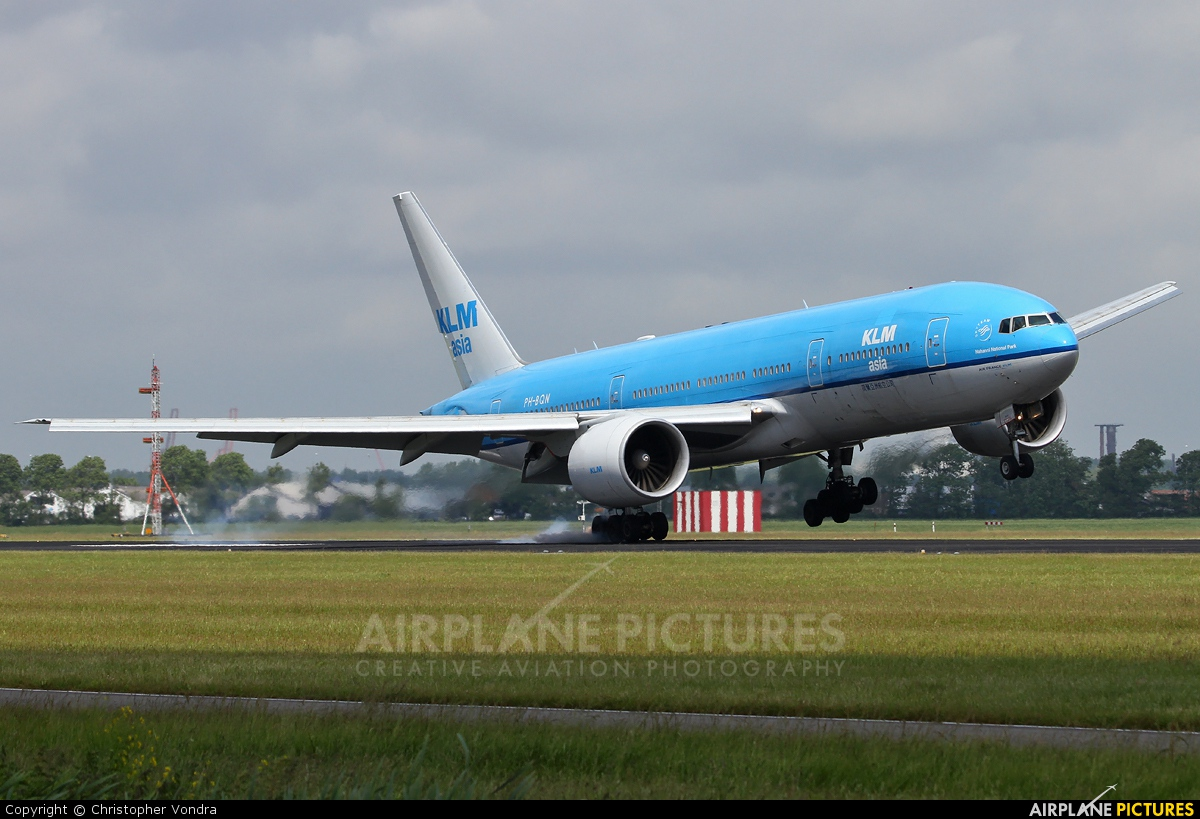 KLM Asia PH-BQN aircraft at Amsterdam - Schiphol