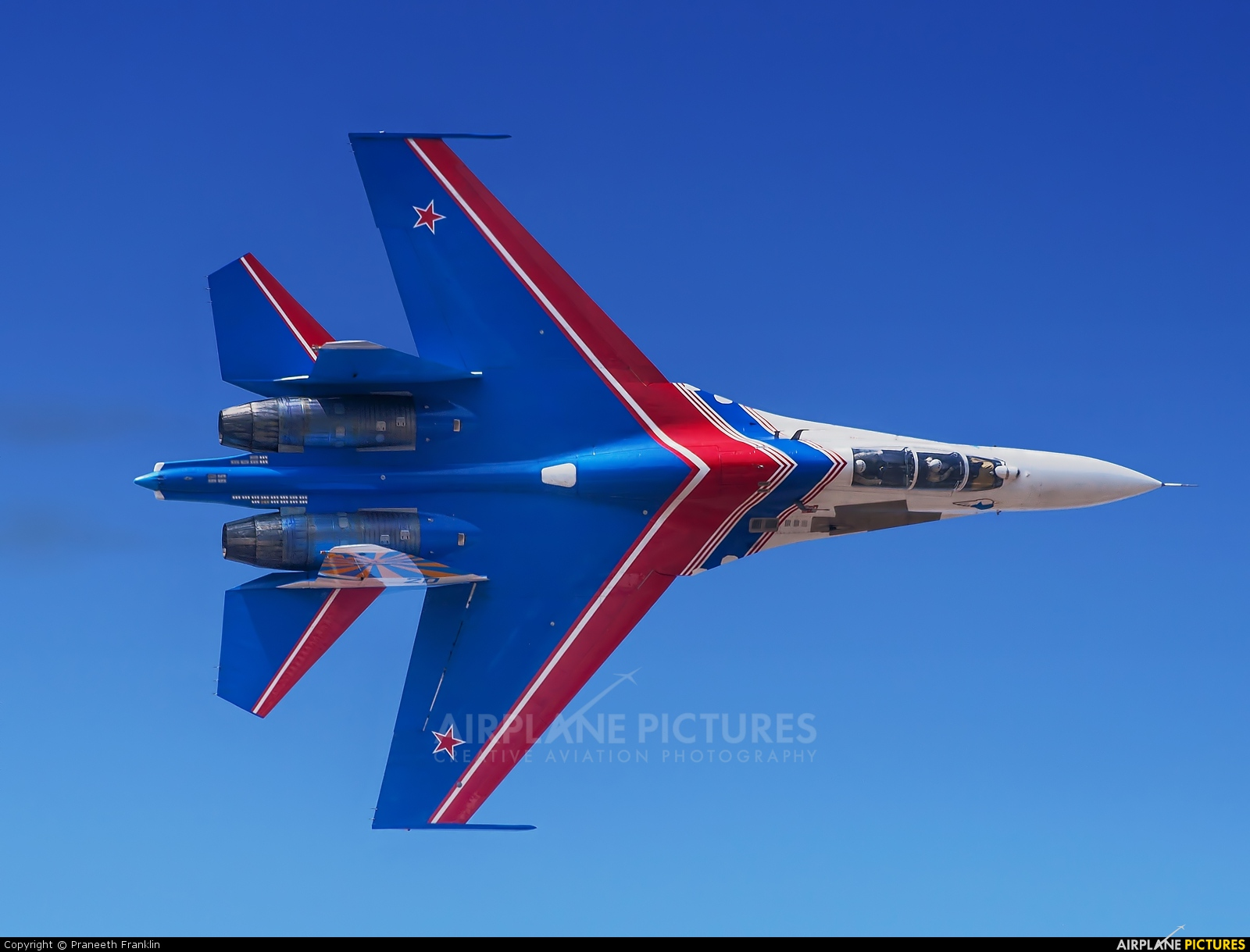 "Russia - Air Force ""Russian Knights"" 20 aircraft at Yelahanka AFB"
