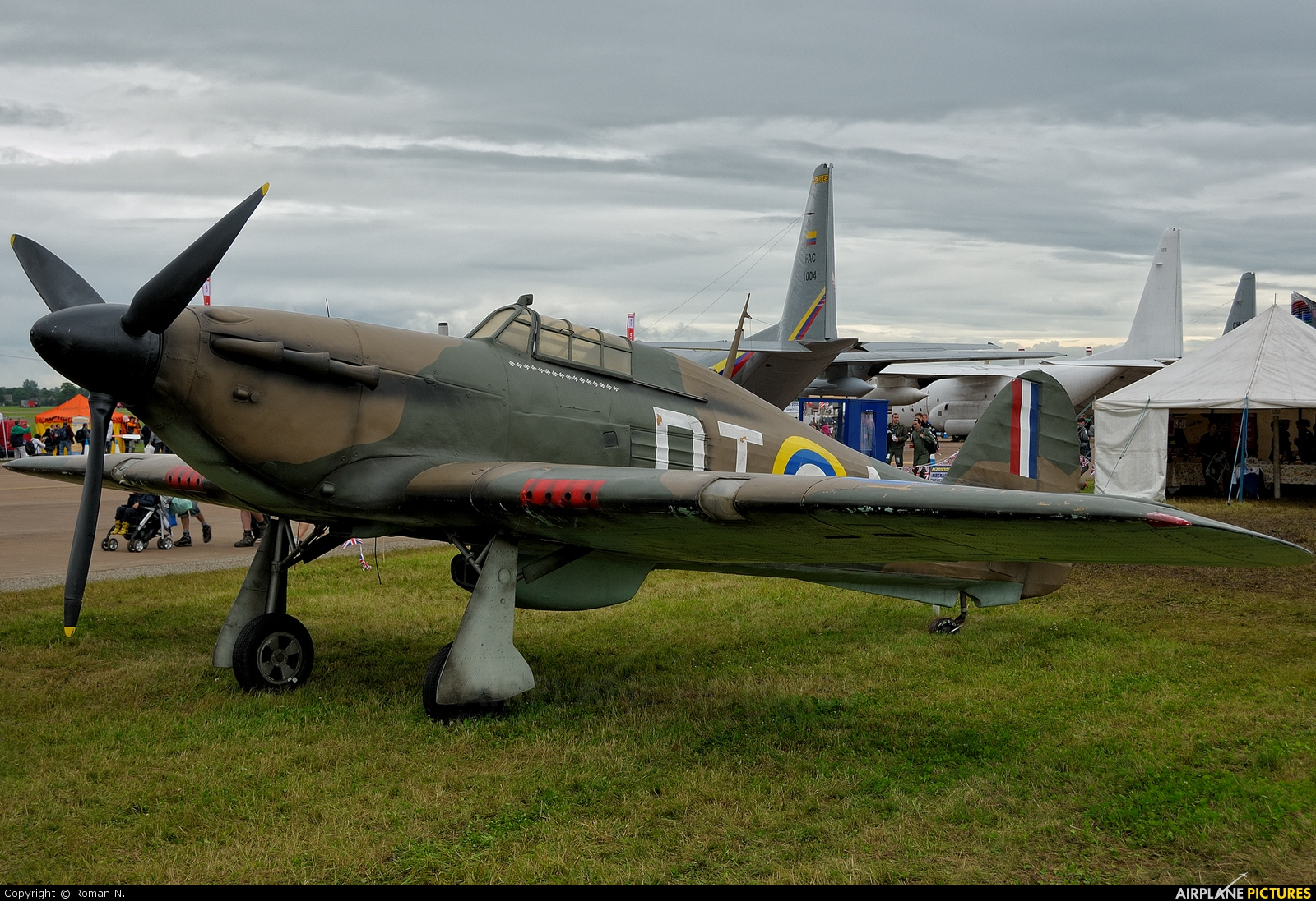 Private V6555 aircraft at Fairford