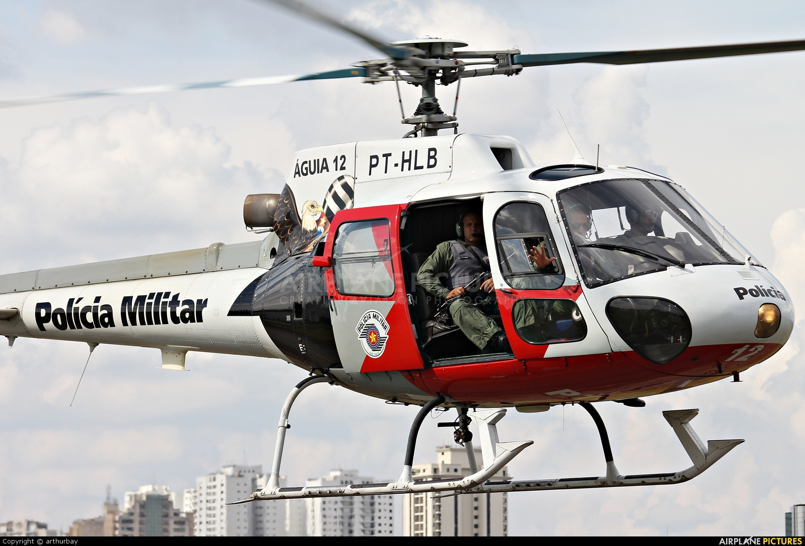 Brazil - Police PT-HLB aircraft at São Paulo - Campo de Marte