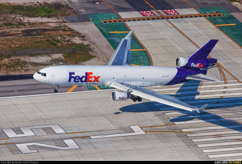 FedEx Federal Express N614FE aircraft at Los Angeles Intl