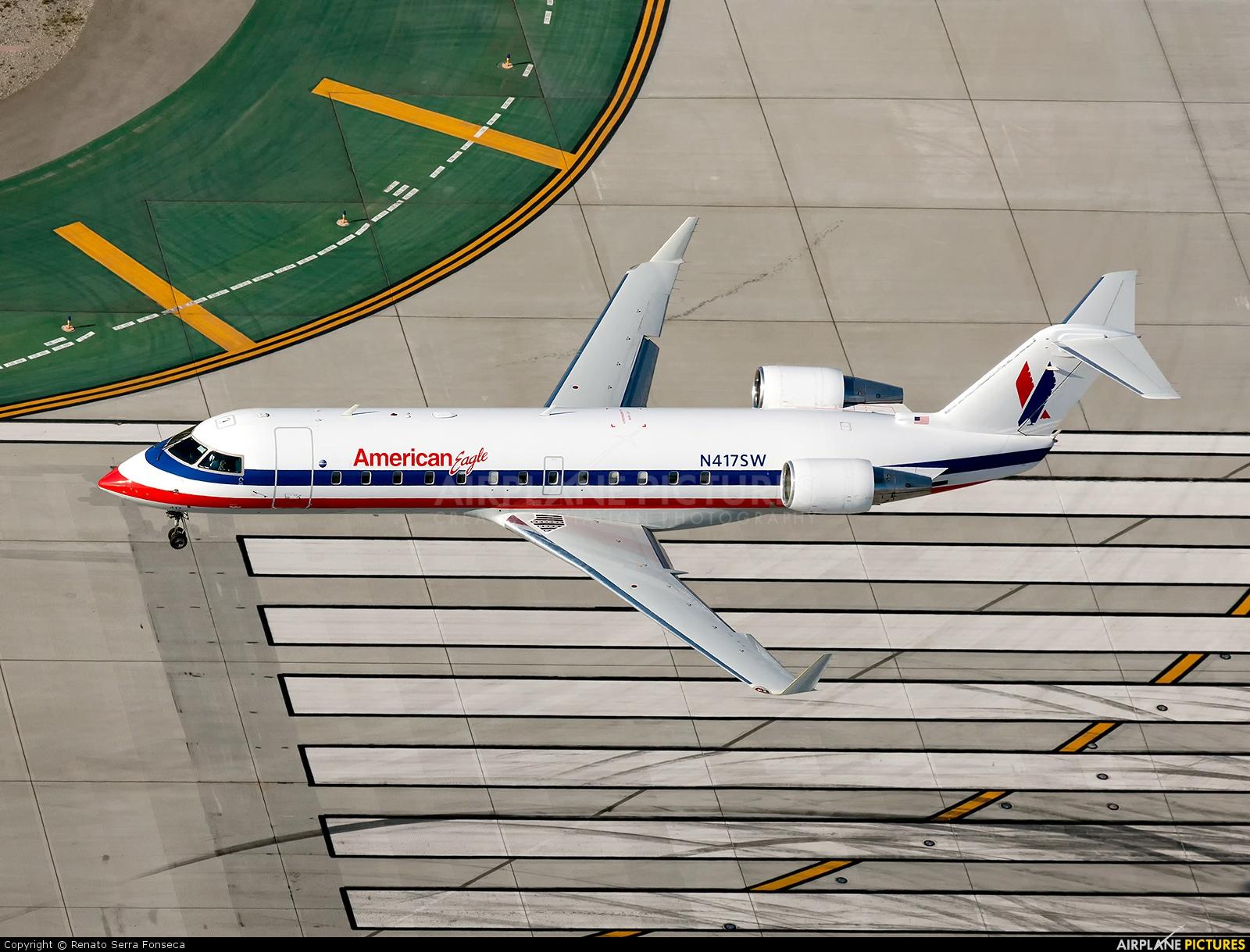 American Eagle N417SW aircraft at Los Angeles Intl