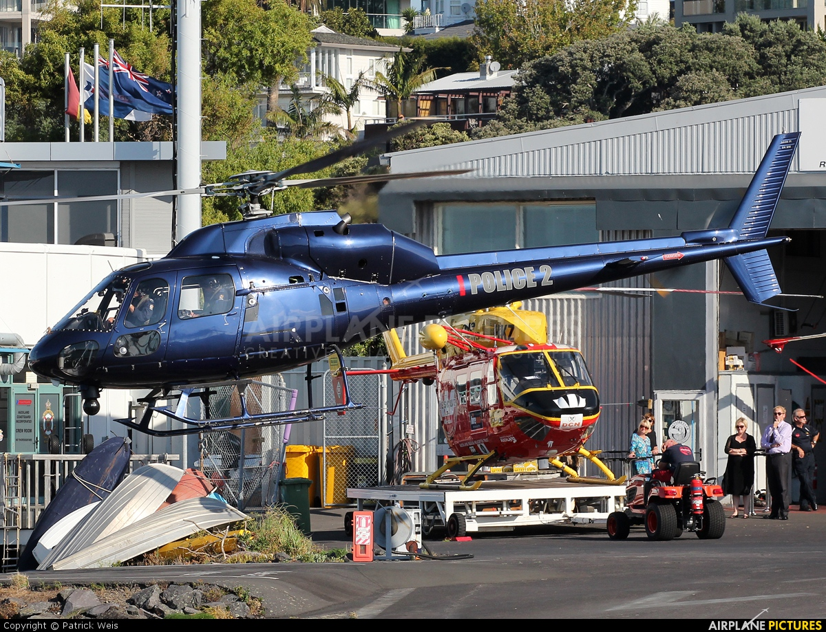 New Zealand - Police ZK-HDG aircraft at Mechanics Bay Heliport