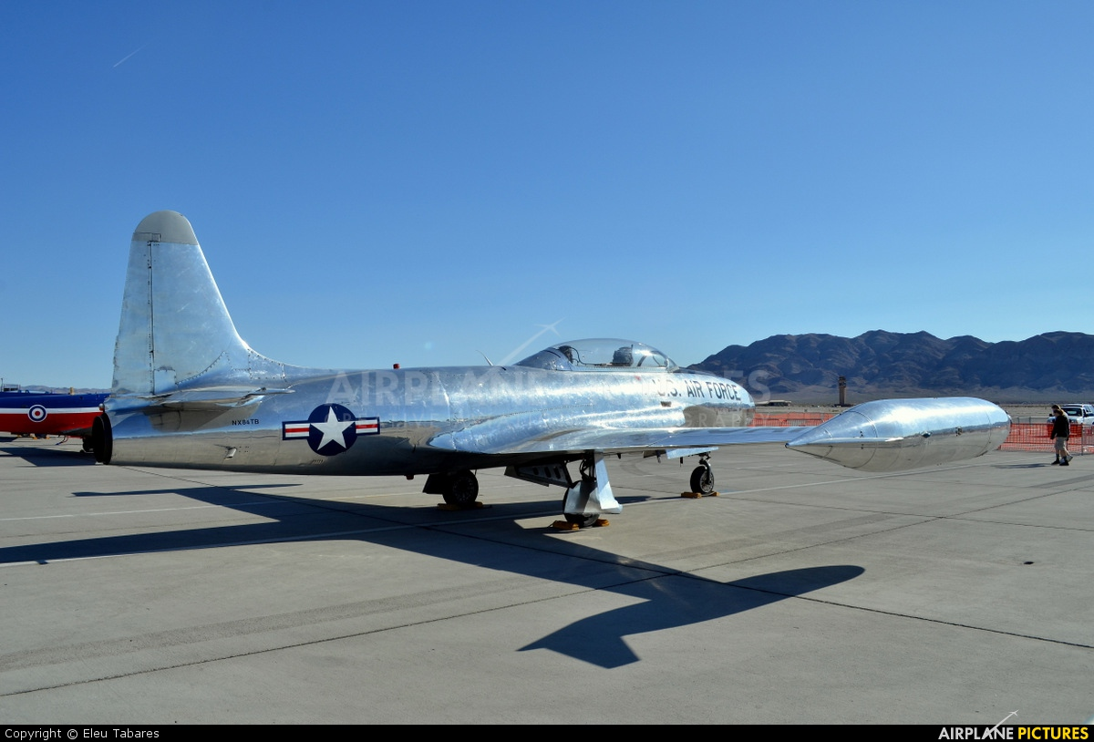 Private NX84TB aircraft at Nellis AFB