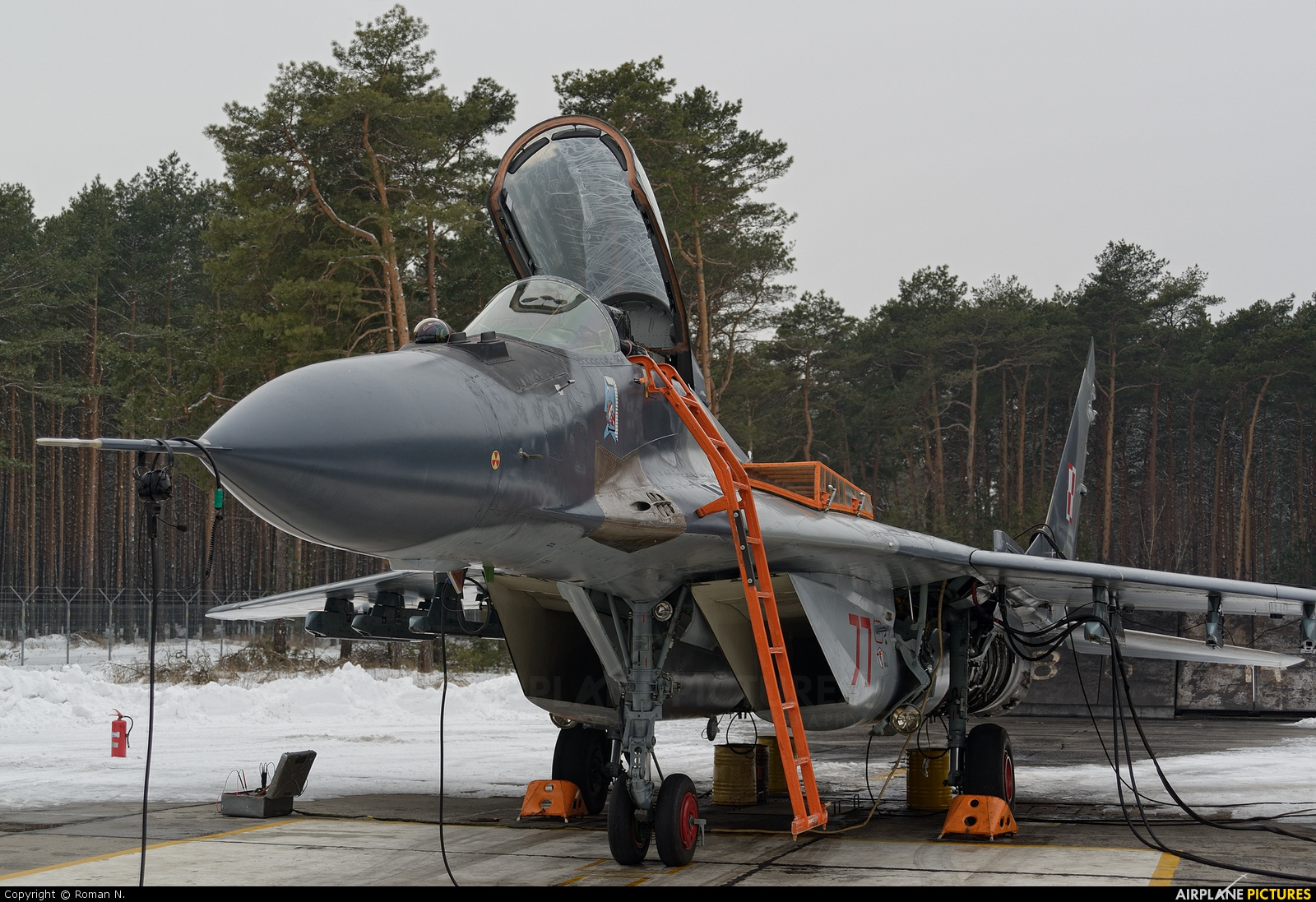 Poland - Air Force 77 aircraft at Bydgoszcz - Szwederowo