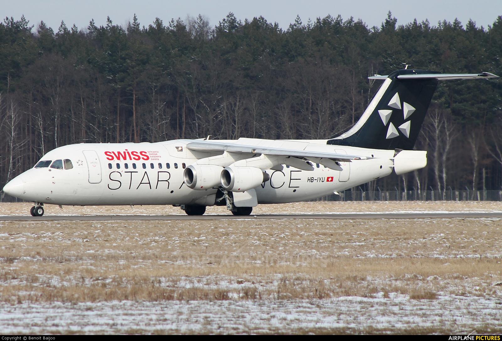 Swiss HB-IYU aircraft at Hannover - Langenhagen