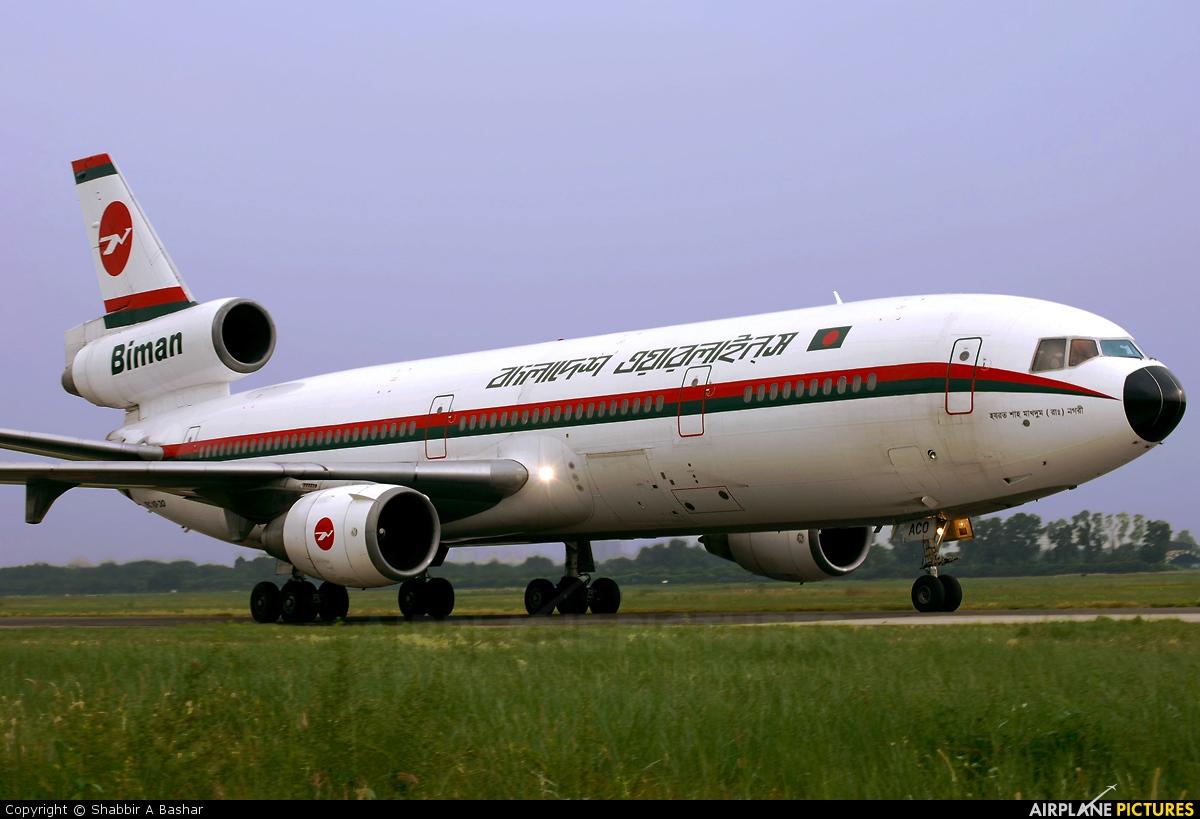 Biman Bangladesh S2-ACO aircraft at Dhaka - Hazrat Shahjala Intl