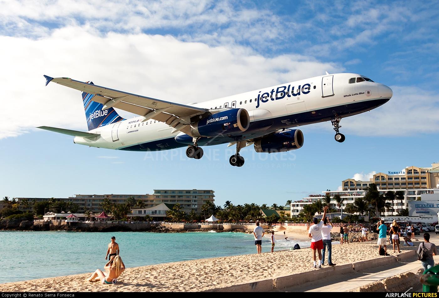 JetBlue Airways N594JB aircraft at Sint Maarten - Princess Juliana Intl