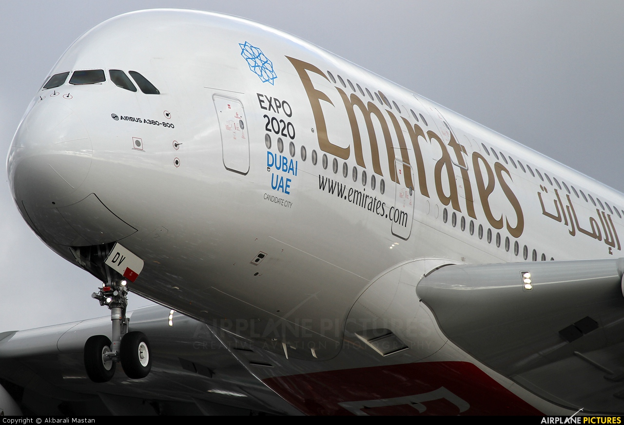 Emirates Airlines A6-EDV aircraft at London - Heathrow