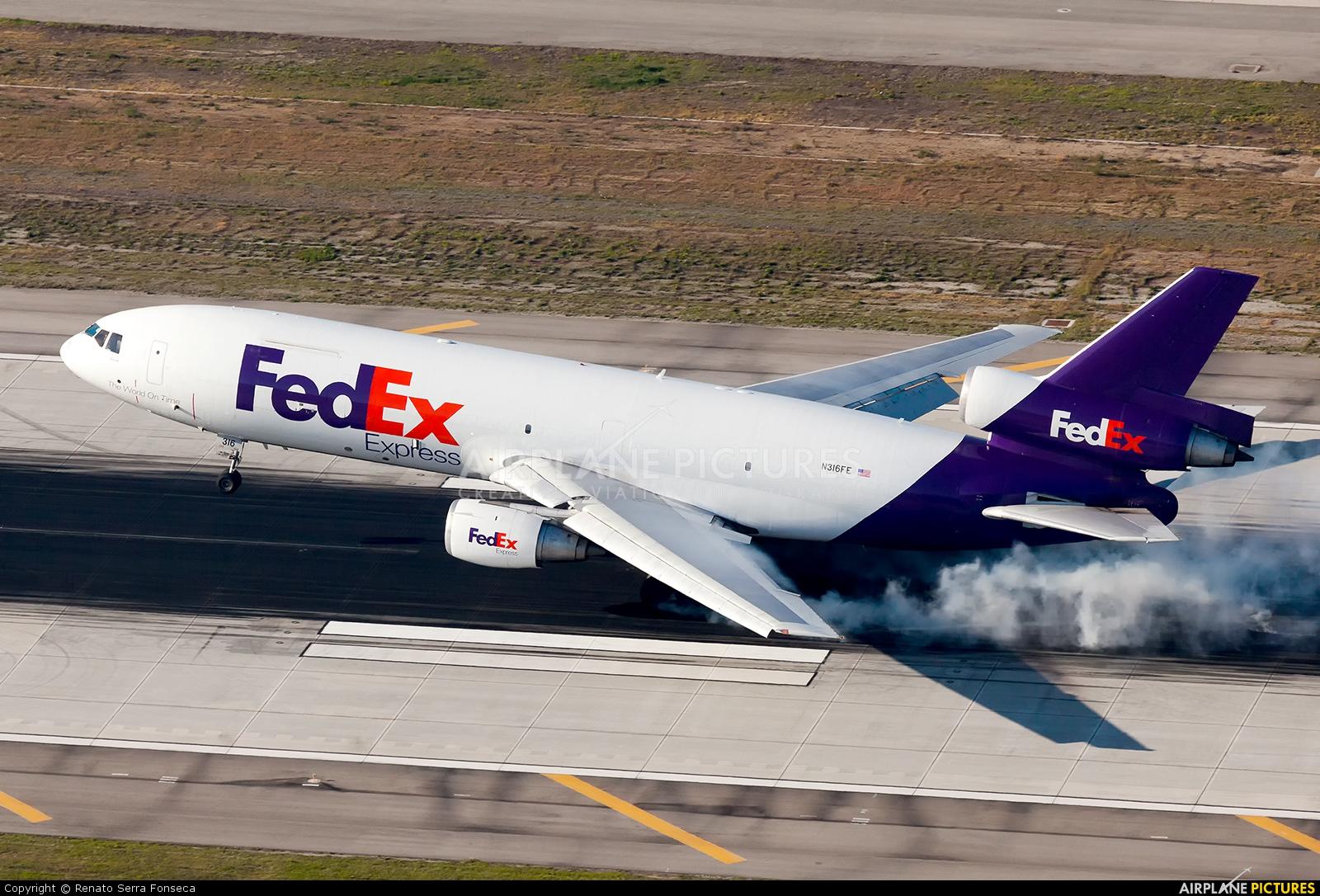 FedEx Federal Express N316FE aircraft at Los Angeles Intl
